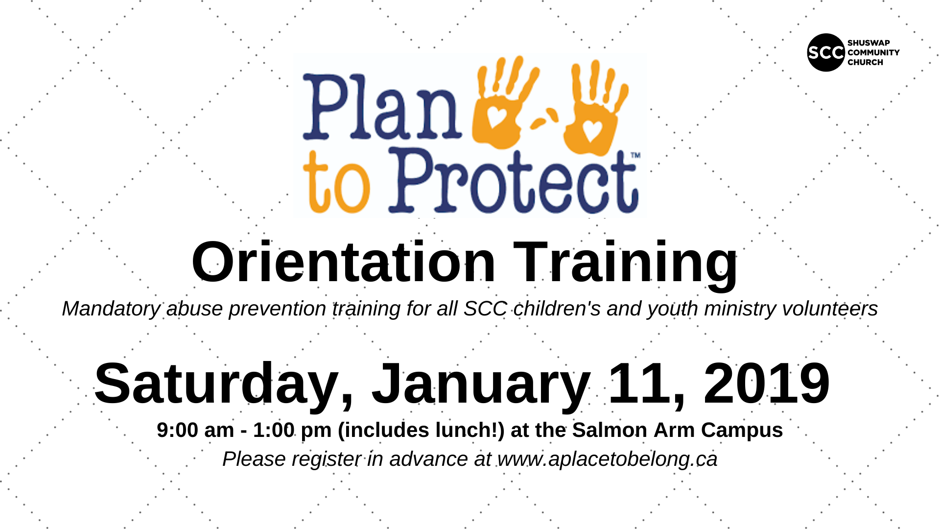 Plan To Protect Orientation Training January 2020